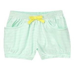 "Crazy 8 ""SURF ISLAND"" Banded Mint Striped Shorts"